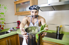 Crazy in the kitchen Royalty Free Stock Photos