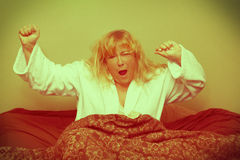 Crazy lady vintage morning. Royalty Free Stock Photos