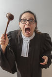 Crazy lawyer Royalty Free Stock Photos