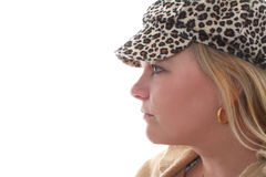 Crazy Leapord Print Hat Royalty Free Stock Image