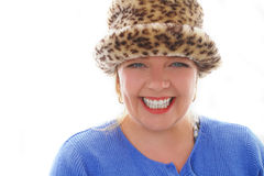 Crazy Leapord Print Hat Royalty Free Stock Photography