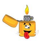 Crazy lighter cartoon Stock Photo