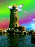 Crazy Lighthouse. Whaleback lighthouse,  colors altered in Photoshop Royalty Free Stock Image