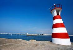 Crazy lighthouse stock image