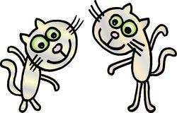 Crazy little cats Royalty Free Stock Photo