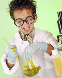 Crazy Little Chemist royalty free stock photo