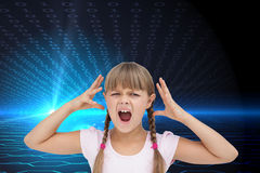 Crazy little girl Royalty Free Stock Images
