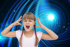 Crazy little girl Royalty Free Stock Photography
