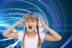 Crazy little girl Royalty Free Stock Photo