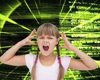Crazy little girl Stock Images