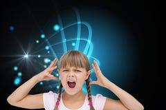 Crazy little girl Stock Photos