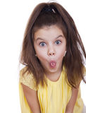 Crazy little girl Stock Image