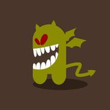 Crazy little monster with wings. Royalty Free Stock Photography
