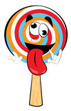 Crazy Lollipop cartoon Stock Images