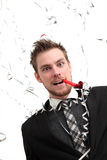 Crazy looking Party guy Stock Photos