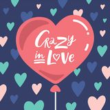 Crazy in Love Lettering composition stock illustration