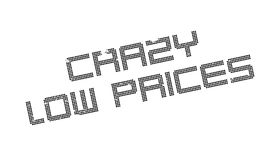 Crazy Low Prices rubber stamp Stock Photos