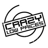 Crazy Low Prices rubber stamp Royalty Free Stock Photos