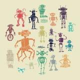 Crazy machines.  cartoons and retro. Royalty Free Stock Photo