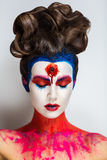 Crazy make up art Royalty Free Stock Photo