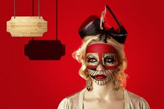 Crazy make up Royalty Free Stock Images