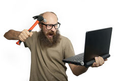 Crazy man is attacking  (series) Royalty Free Stock Photo