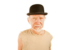 Crazy man in bowler hat Royalty Free Stock Image