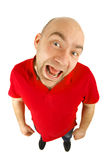 Crazy man portrait Royalty Free Stock Images
