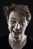 Crazy man portrait Stock Photo
