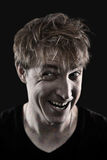 Crazy man portrait Stock Photos