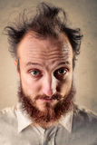 Crazy man royalty free stock images