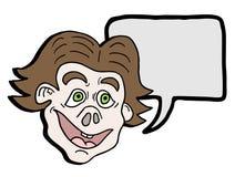 Crazy man talkative Royalty Free Stock Image