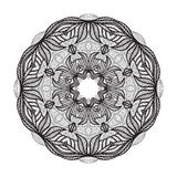 Crazy mandala template for coloring book, zendoodle. Round zentangle. Round ornament lace pattern for your design Stock Images