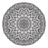Crazy mandala template for coloring book, zendoodle. Round zentangle. Round ornament lace pattern for your design Stock Photo