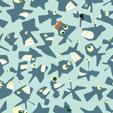 Crazy marine life seamless pattern Stock Photography