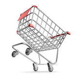 Crazy market cart 3D.  Shopping concept. Isolated Royalty Free Stock Image