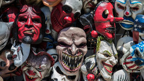 Crazy Masks. Crazy and scary masks for sale at the state fair Stock Image