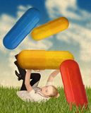 Crazy medical doctor and pills Stock Photos