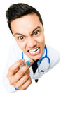 Crazy medical doctor Royalty Free Stock Photos