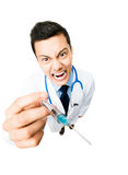 Crazy medical doctor Stock Photography