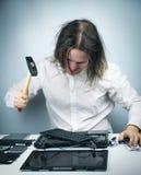 Crazy men repair Stock Photos