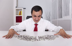 Crazy about money Stock Image