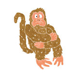 Crazy monkey sitting Stock Photography