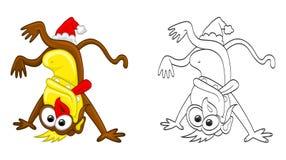 Crazy monkey Stock Image