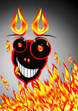 Crazy monster. Burning fire and Crazy monster Stock Photography