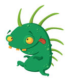 Crazy monster. Illustration of a crazy dinosaur Stock Images