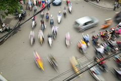Crazy motorbike traffics, Hanoi, Vietnam Royalty Free Stock Photography
