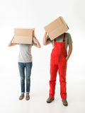 Crazy moving day Stock Image