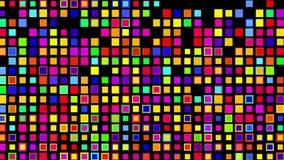 Crazy multicolor color squares, Alpha stock footage