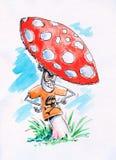 Crazy mushroom Royalty Free Stock Photography
